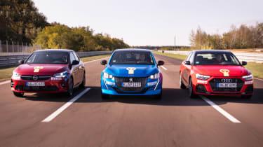 Vauxhall Corsa vs Peugeot 208 vs Audi A1 - head-to-head