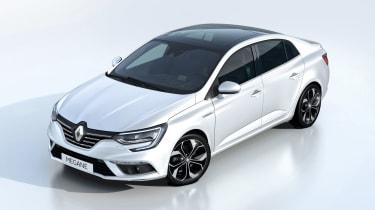 New Renault Megane Grand Coupe - studio front quarter