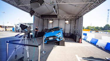 Ford Focus RS on ramps