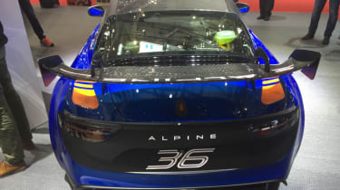 Alpine A110 GT4 rear end