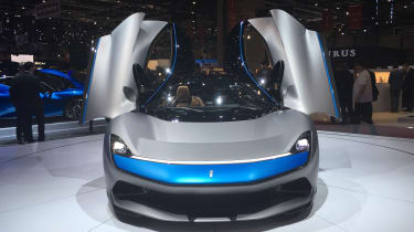 Pininfarina Battista at Geneva Motor Show 2019 grey