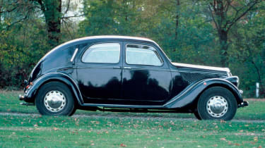 The Lancia Aprilia was one of the first cars designed in a wind tunnel, achieving a record low drag coefficient.