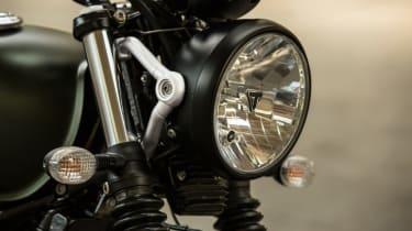 Triumph Street Scrambler review - headlamp