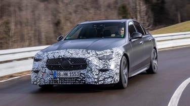 Mercedes C-Class prototype - front action