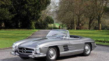 The Mercedes 300 SL is a regular auction-goer, both in iconic Gullwing form and in Roadster guise just like the one for sale at Villa Erba. Built off the back of the runaway success of the coupe model, the Roadster made its public debu
