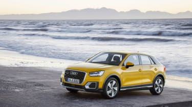 Audi Q2 Yellow side front