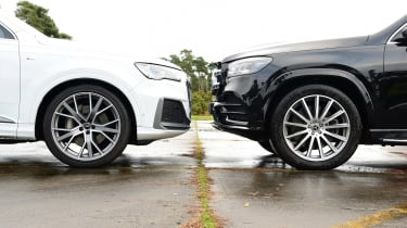 Mercedes GLS vs Audi Q7 - wheels
