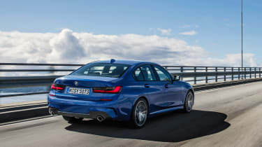 BMW 3 Series - blue rear action