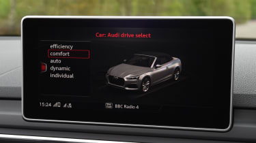 Audi A5 Cabriolet - drive select