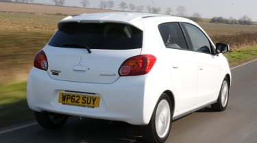 Mitsubishi Mirage 1.2 3 rear tracking