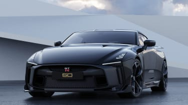 Nissan GT-R50 by Italdesign - black front 3/4 static