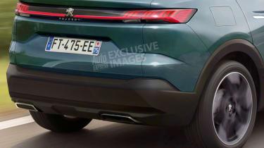 Peugeot 4008 - rear detail (watermarked)