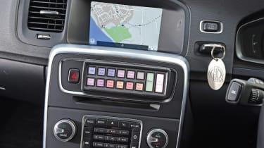 Volvo V60s police car - centre console