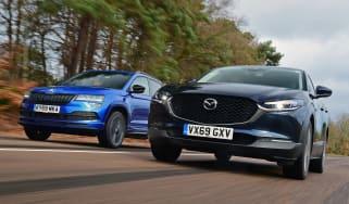 Mazda CX-30 vs Skoda Karoq - head-to-head
