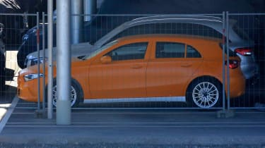 Mercedes A-Class spy shot side profle