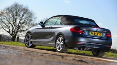 BMW 220d Convertible rear static
