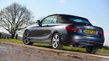 BMW 220d Convertible rear static