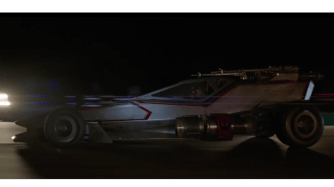 Hot Wheels X-Wing Carship - side