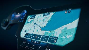 Mercedes EQS Hyperscreen infotainment - sat-nav