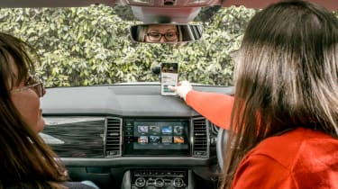 Skoda Parent Taxi app inside