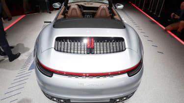 porsche 911 cabriolet static rear geneva