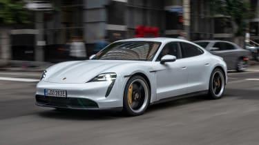 Porsche Taycan 4S - front city