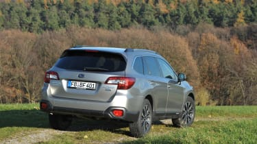New Subaru Outback 2015 rear grass