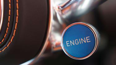 Bugatti Chiron - engine button