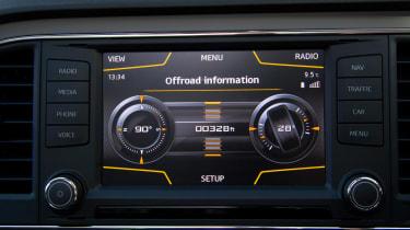 SEAT Leon X-Perience screen