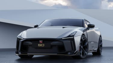 Nissan GT-R50 by Italdesign - silver front 3/4 static