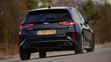 Kia Ceed GT-Line S long termer - rear action