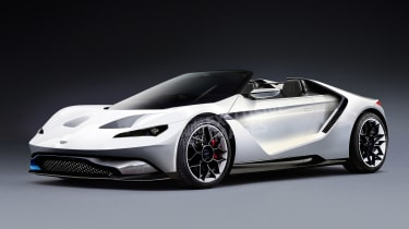 Aston Martin's Tesla Roadster rival - front (watermarked)