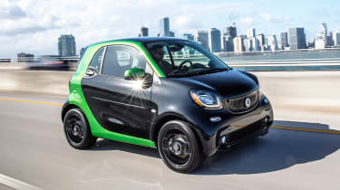 Smart ForTwo EV - front action