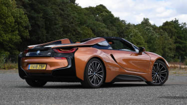 BMW i8 Roadster - rear static roof down