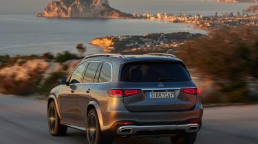 Mercedes GLS - grey rear twilight