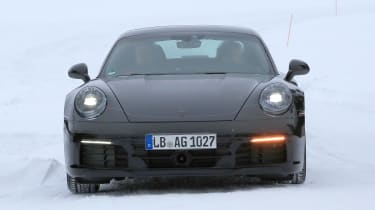 Porsche 911 spy shot - daytime full front