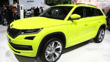 Skoda Kodiaq speed yellowgreen - paris