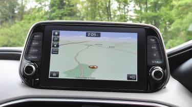 Hyundai Santa Fe - long-term first report sat-nav