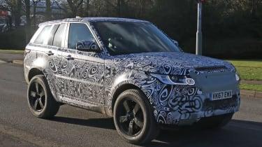 Land Rover Defender test mule front