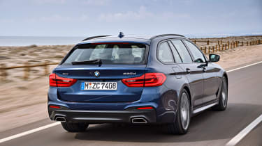 New BMW 5 Series Touring - rear tracking