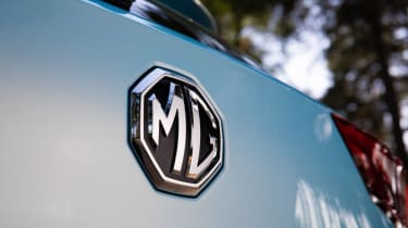MG ZS EV badge