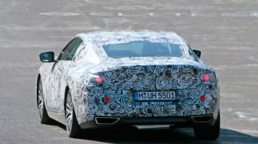 2018 BMW M8 spy shot rear