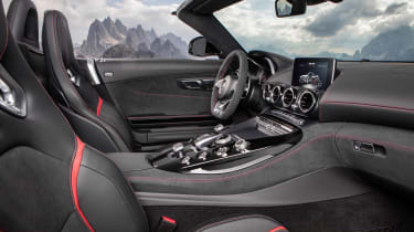 Mercedes-AMG GT C Roadster - white interior