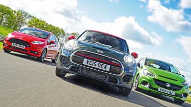 MINI JCW vs Vauxhall Corsa VXR & Ford Fiesta ST