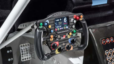 Toyota GR Supra concept steering wheel