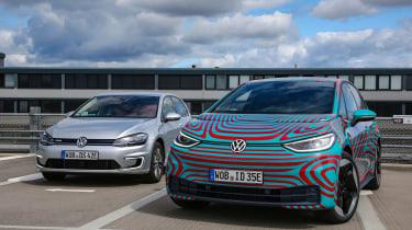 Volkswagen ID.3 vs Volkswagen e-Golf - front static