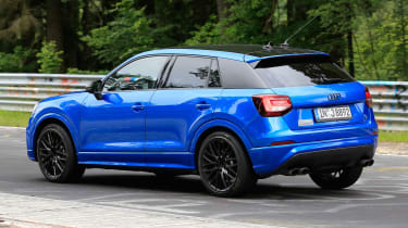 Audi SQ2 spy shots - rear cornering