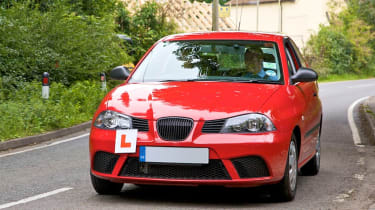 L-plate car