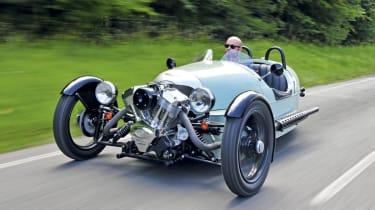 Morgan 3 Wheeler front track