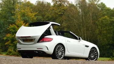 Mercedes SLC 180 - roof opening